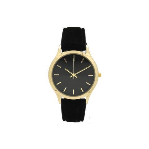 Olivia Pratt Women's Trendy Velvet Watch - Black
