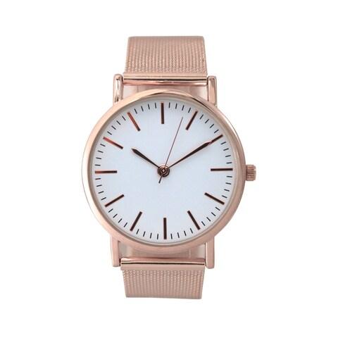 Olivia Pratt Women's Minimalist Mesh Watch