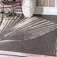 nuLOOM Made by Thomas Paul Indoor/Outdoor Coastal Seashell Grey Rug - 7'6 x 10'9