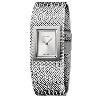Calvin Klein Women's Mesh Stainless Steel Silver Swiss Quartz (Battery-Powered) Watch