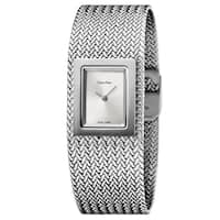 Calvin Klein Women's Mesh Stainless Steel Silver Swiss Quartz (Battery-Powered) Watch