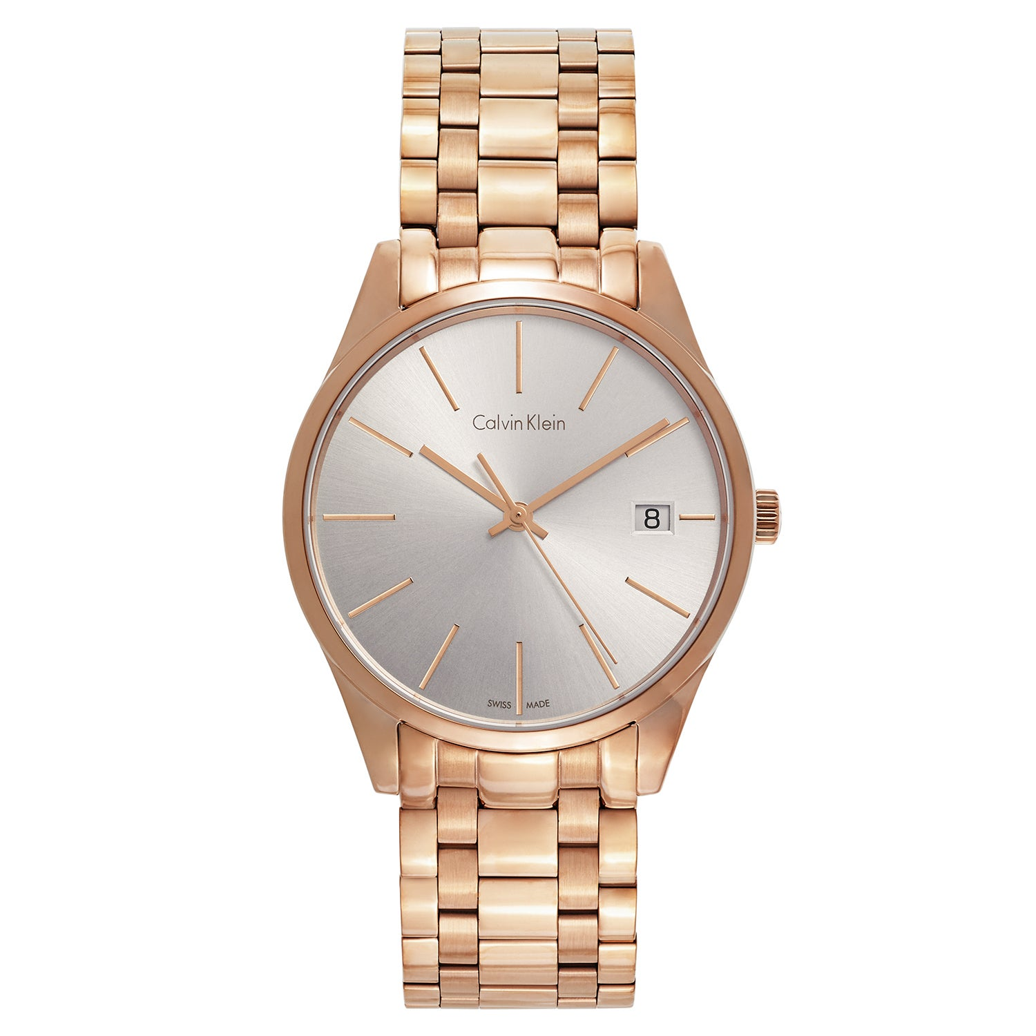 Calvin Klein Women's Time Stainless Steel Rose Gold PVD C...