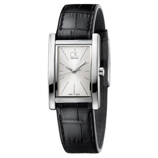 Calvin Klein Women's Refine Leather Silver Swiss Quartz (Battery-Powered) Watch|https://ak1.ostkcdn.com/images/products/16927500/P23217977.jpg?impolicy=medium