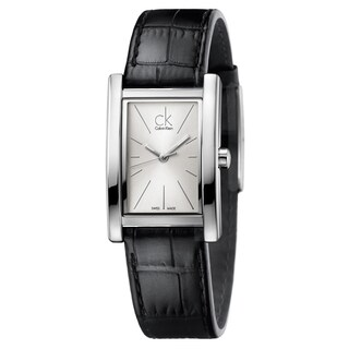 Calvin Klein Women's Refine Leather Silver Swiss Quartz (Battery-Powered) Watch