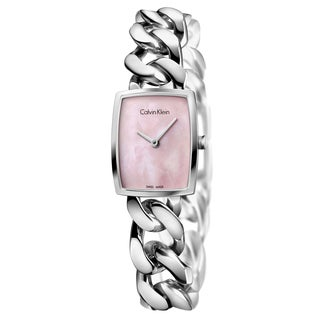 Calvin Klein Women's Amaze Stainless Steel Pink Mother-of-Pearl Swiss Quartz (Battery-Powered) Watch