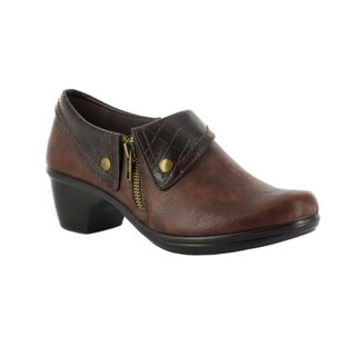 Easy Street Women's Darcy Side Zip Shootie (Tan/Brown Croco) (More options available)