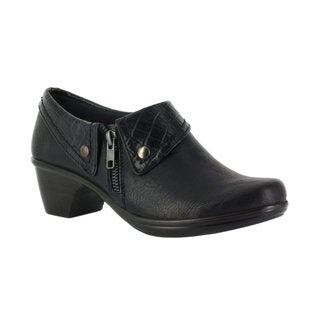 Easy Street Women's Darcy Side Zip Shootie (Black/Croc)