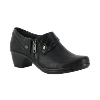 Easy Street Women's Darcy Side Zip Shootie (Black/Croc) (More options available)