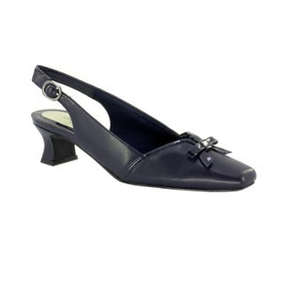 easy street womenu0027s incredible slingback with bow new navypatent