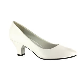 Link to Easy Street Women's Fabulous Pump - Medium - 7.5 (White) (As Is Item) Similar Items in As Is
