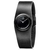 Calvin Klein Women's Impulsive Stainless Steel Black PVD Coated Black Swiss Quartz (Battery-Powered) Watch