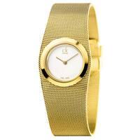 Calvin Klein Women's Impulsive Stainless Steel Yellow Gold PVD Coated Silver Swiss Quartz (Battery-Powered) Watch