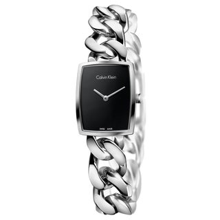 Calvin Klein Women's Amaze Stainless Steel Black Swiss Quartz (Battery-Powered) Watch
