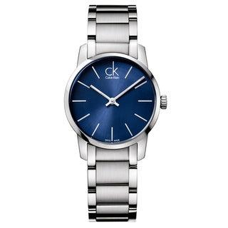 Calvin Klein Women's City Stainless Steel Blue Swiss Quartz (Battery-Powered) Watch