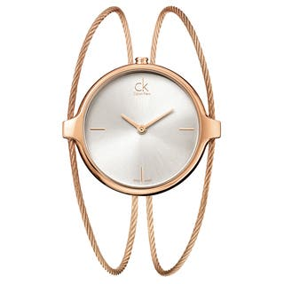 Calvin Klein Women's Agile Stainless Steel Rose Gold PVD Coated Silver Swiss Quartz (Battery-Powered) Watch|https://ak1.ostkcdn.com/images/products/16927583/P23218002.jpg?impolicy=medium