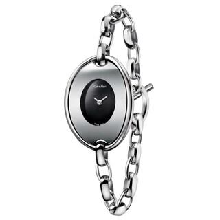 Calvin Klein Women's Distinctive Stainless Steel Black Swiss Quartz (Battery-Powered) Watch