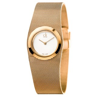 Calvin Klein Women's Impulsive Stainless Steel Rose Gold PVD Coated Silver Swiss Quartz (Battery-Powered) Watch