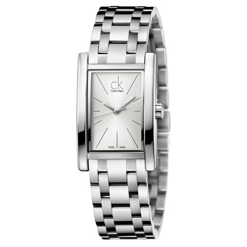 Calvin Klein Women's Refine Stainless Steel Silver Swiss Quartz (Battery-Powered) Watch