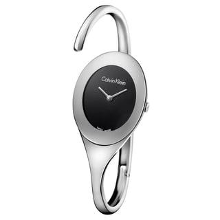 Calvin Klein Women's Embrace Stainless Steel Black Swiss Quartz (Battery-Powered) Watch