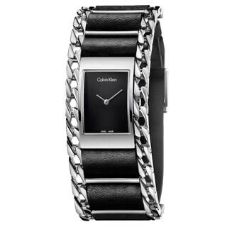 Calvin Klein Women's Impeccable Leather Black Swiss Quartz (Battery-Powered) Watch