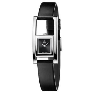 Calvin Klein Women's Unexpected Leather Black Swiss Quartz (Battery-Powered) Watch