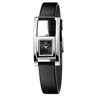 Calvin Klein Women's Unexpected Leather Black Swiss Quartz (Battery-Powered) Watch