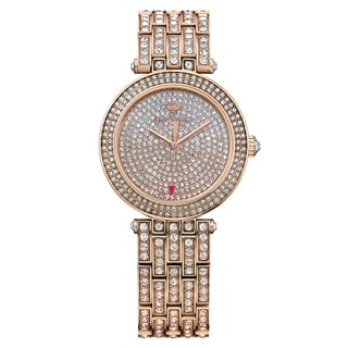 Juicy Couture Women's Cali Stainless Steel Rose Gold Plated and Crystals Japanese Quartz (Battery-Powered) Watch