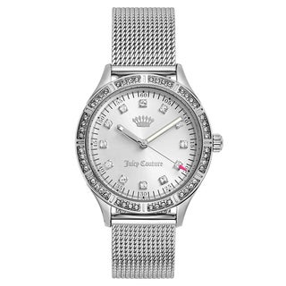 Juicy Couture Women's Arianna Stainless Steel Silver Japanese Quartz (Battery-Powered) Watch (Option: Silver)