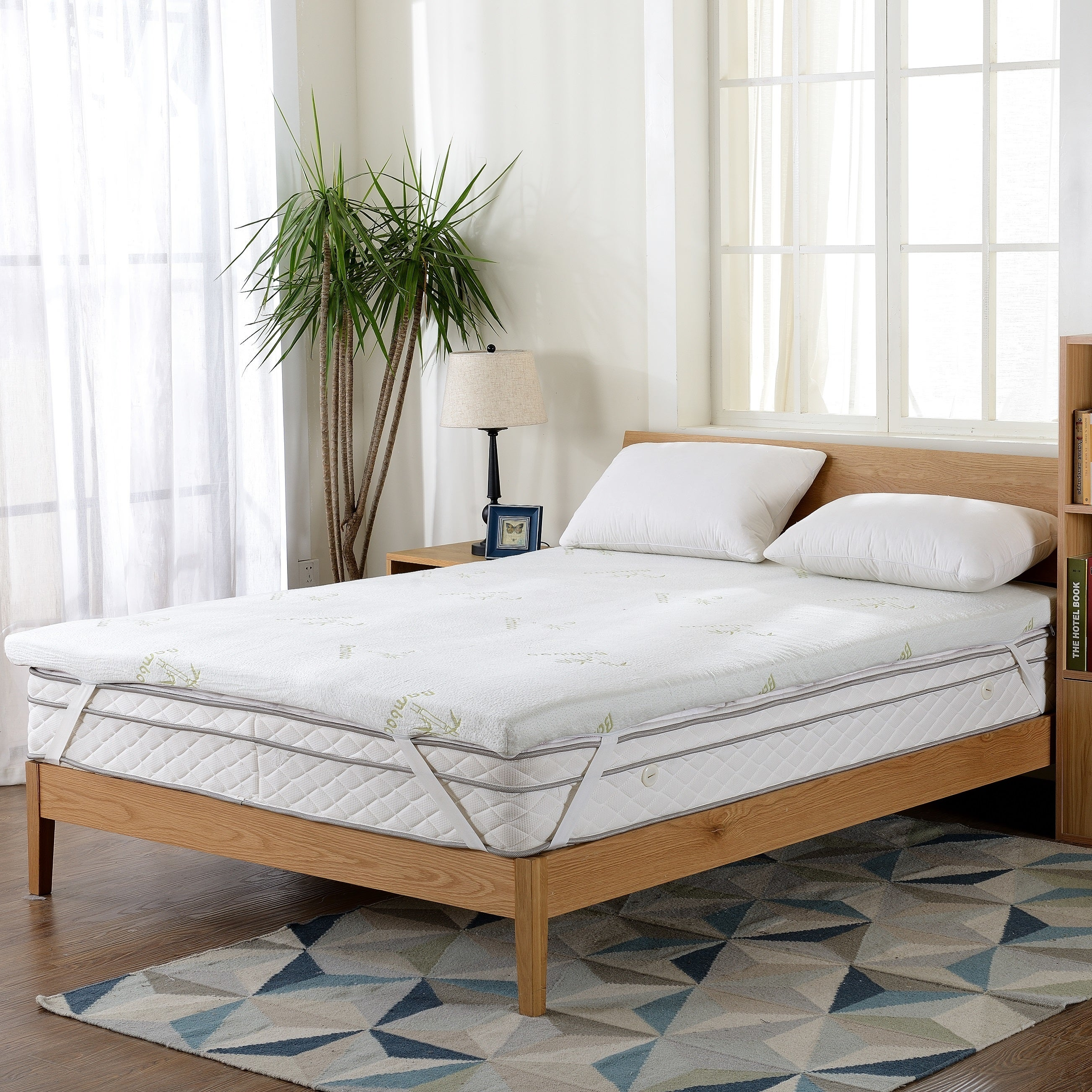 Cheer Collection Gel Infused Mattress Topper (King), Gree...