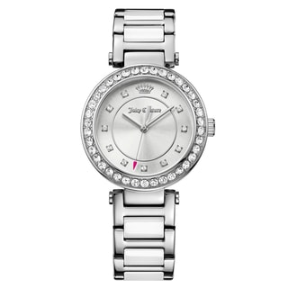 Juicy Couture Women's Cali Stainless Steel and Plastic Silver Japanese Quartz (Battery-Powered) Watch