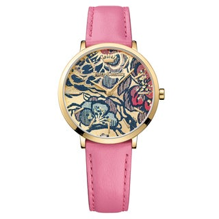 Juicy Couture Women's La Ultra Slim Leather Multi Color Japanese Quartz (Battery-Powered) Watch