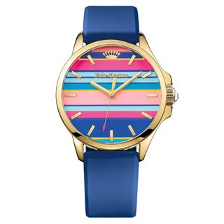 Juicy Couture Women's Jetsetter Silicone Multi Color Japanese Quartz (Battery-Powered) Watch