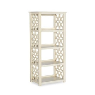 Willow Antique White Bookcase