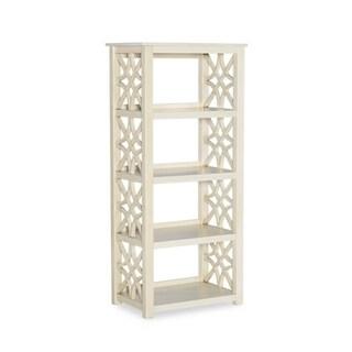 Willow Antique White Bookcase