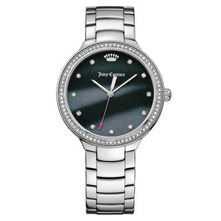 Juicy Couture Women's Catalina Stainless Steel Black Japanese Quartz (Battery-Powered) Watch