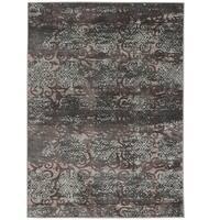"Vintage Collection Trellis Dark Beige and Grey Rug (5' x 7'6"")"