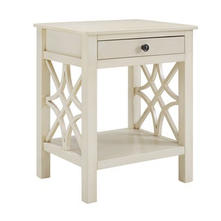 Willow Antique White End Table