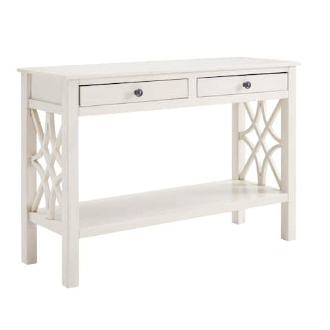 Willow Antique White Console Table