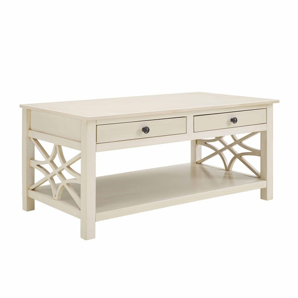 Overstock White Coffee Table.Shop Willow Antique White Coffee Table Free Shipping Today