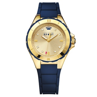 Juicy Couture Women's Rio Silicone Gold Japanese Quartz (Battery-Powered) Watch