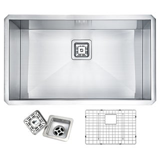 Vanguard Brushed Satin Stainless Steel 32-inch Undermount Single-basin Kitchen Sink
