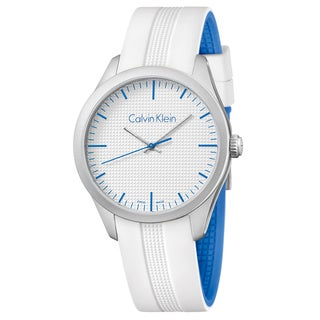 Calvin Klein Men's Color Silicone Silver Swiss Quartz (Battery-Powered) Watch