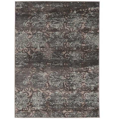 Vintage Collection Trellis Dark Beige and Grey Rug