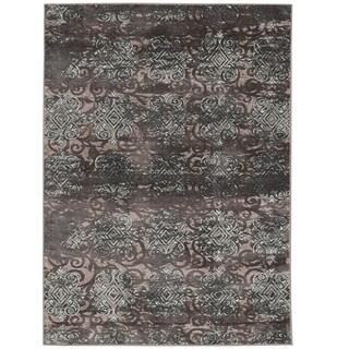 Vintage Collection Trellis Dark Beige and Grey Rug (2' x 10')