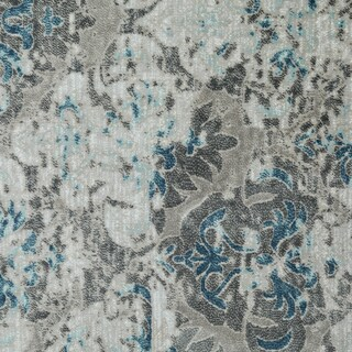 """Vintage Collection Trellis Beige and Grey with Blue Rug (5' x 7'6"""")"""