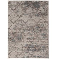 Vintage Collection Trellis Beige and Grey with Blue Rug