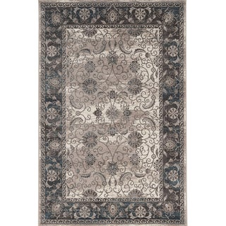 Vintage Collection Isfahan Ivory and Grey Rug (9' x 12')