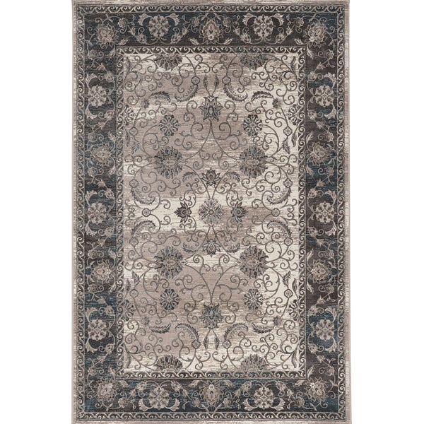Vintage Collection Isfahan Ivory and Grey Rug (2' x 3')