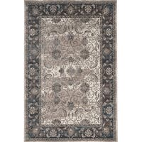 Vintage Collection Isfahan Ivory and Grey Rug (2' x 10')