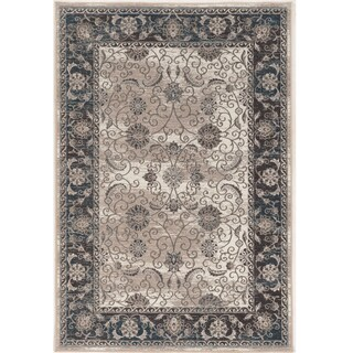 Vintage Collection Isfahan Ivory and Blue Rug (9' x 12')